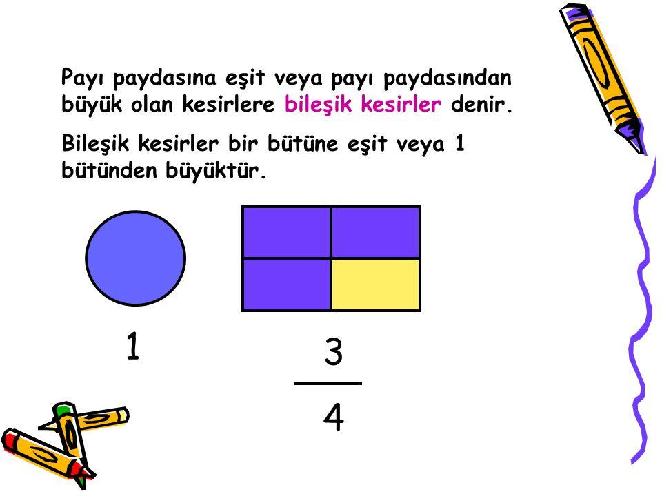 Payları eşit olan bileşik kesirleri karşılaştırma: 2323 2626 2/3 >2/6