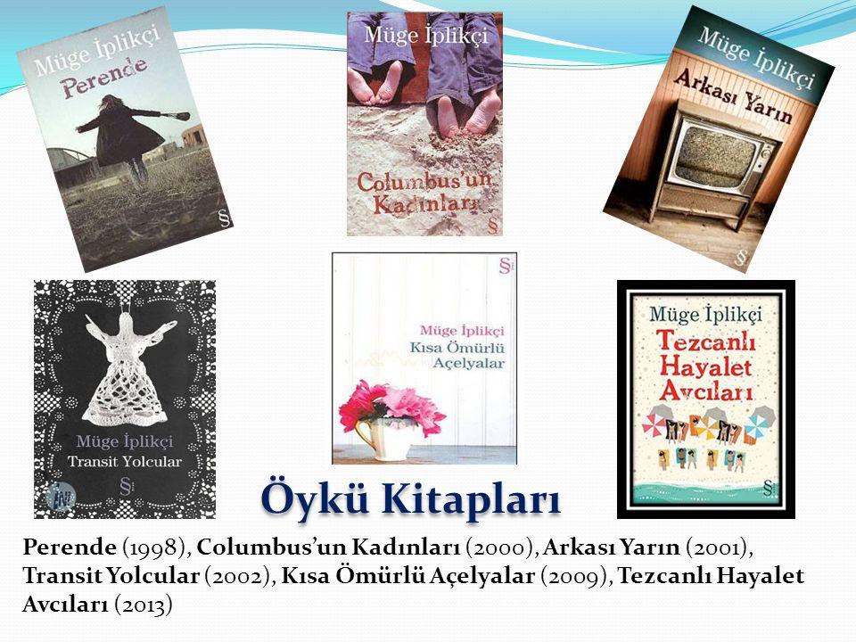 Perende (1998), Columbus'un Kadınları (2000), Arkası Yarın (2001), Transit Yolcular (2002), Kısa Ömürlü Açelyalar (2009), Tezcanlı Hayalet Avcıları (2013) Öykü Kitapları