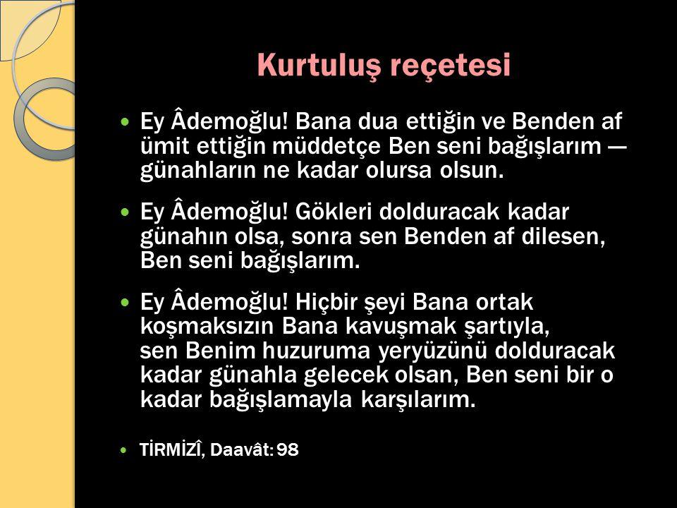 Kurtuluş reçetesi Ey Âdemoğlu.