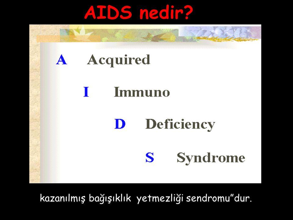 AIDS nedir? kazanılmış bağışıklık yetmezliği sendromu dur.