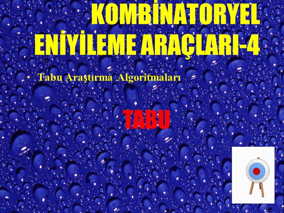 KOMBİNATORYEL ENİYİLEME ARAÇLARI-3 Genetik Algoritmalar