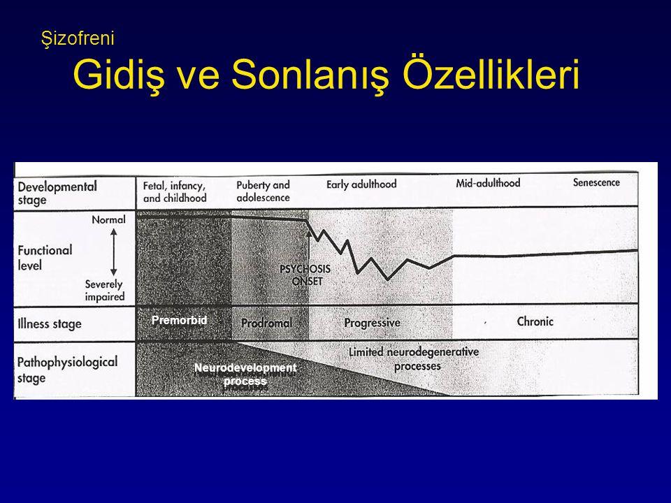 Şizofreni Gidiş ve Sonlanış Özellikleri Premorbid Neurodevelopment process