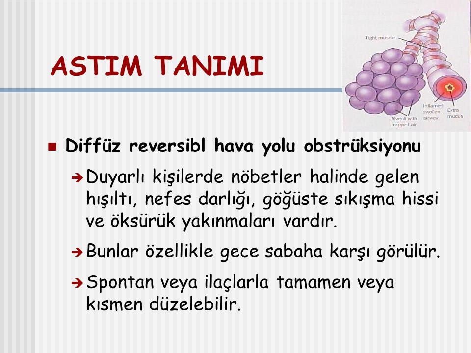 ASTIM TANISI; radyoloji Genellikle normaldir.