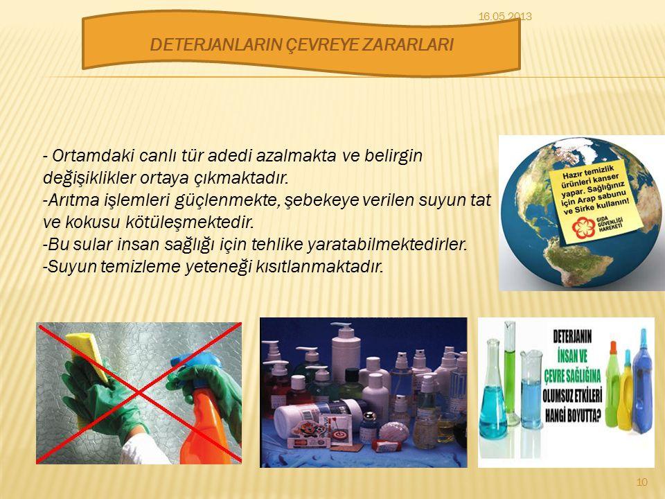 Uzun C atomu zincirinden oluşan bir alkil yada arilin SÜLFAT yada SÜLFÜNAT tuzudur. Deterjanın temizleme prensibi sabunla aynıdır. C sayısı 10-14 aras