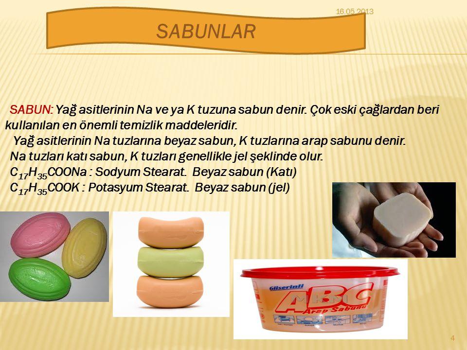 Sabunlar Deterjanlar Çamaşır Sodası Çamaşır Suyu TEMİZLİK MADDELERİ 3 16.05.2013