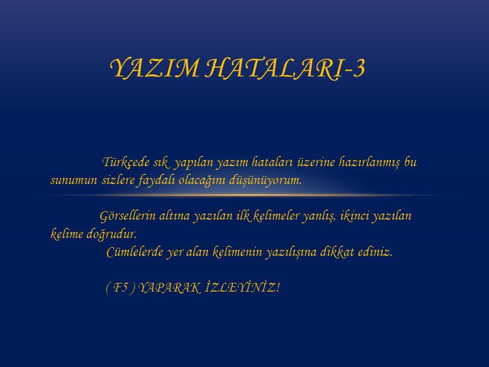 Türkçede sık yapılan yazım hataları üzerine hazırlanmış bu sunumun sizlere faydalı olacağını düşünüyorum.