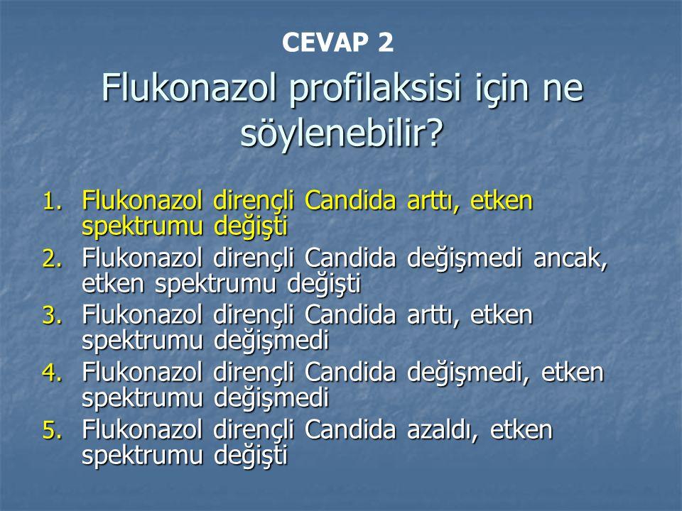Flukonazol profilaksisi için ne söylenebilir. 1.