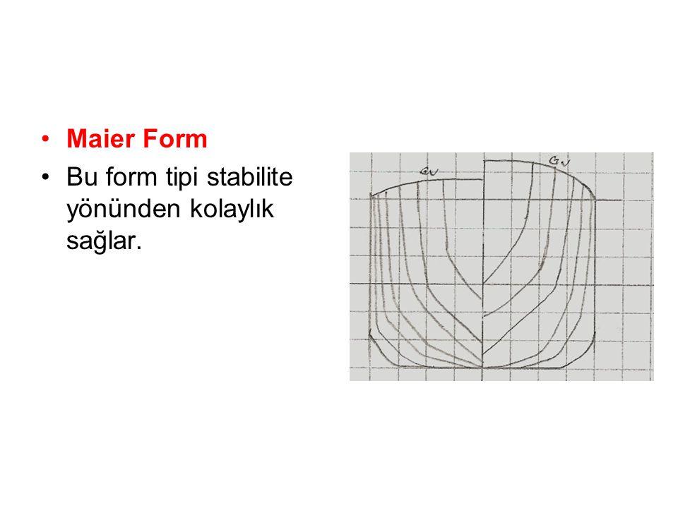 Maier Form Bu form tipi stabilite yönünden kolaylık sağlar.