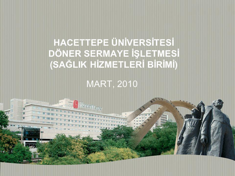 HACETTEPE ÜNİVERSİTESİ DÖNER SERMAYE İŞLETMESİ (SAĞLIK HİZMETLERİ BİRİMİ) MART, 2010