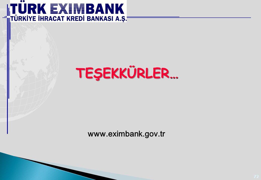72 www.eximbank.gov.tr TEŞEKKÜRLER…