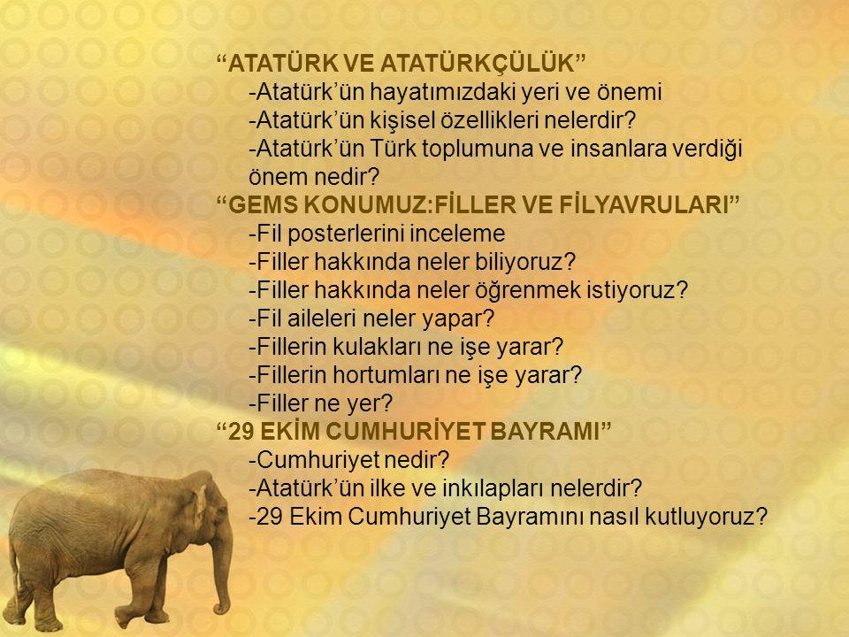 ATATÜRK VE ATATÜRKÇÜLÜK -Atatürk'ün hayatımızdaki yeri ve önemi -Atatürk'ün kişisel özellikleri nelerdir.