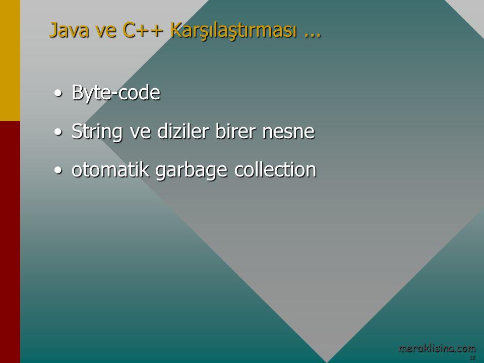 12 12 meraklisina.com Java ve C++ Karşılaştırması...