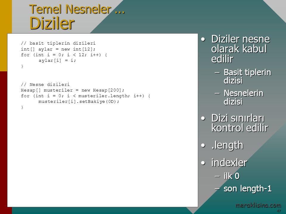 47 47 meraklisina.com Temel Nesneler...