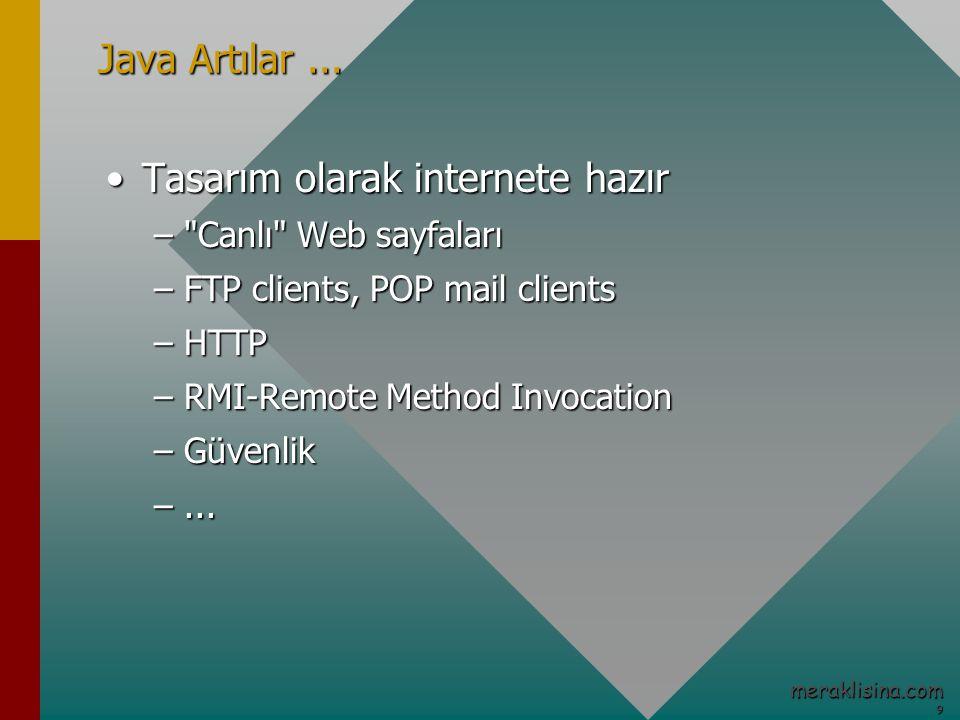 9 meraklisina.com Java Artılar...