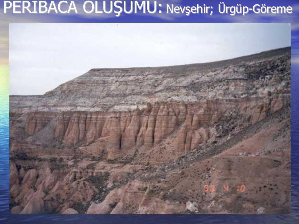 PERİBACA OLUŞUMU: Nevşehir; Ürgüp-Göreme