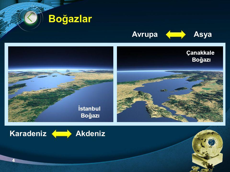 LOGO Boğazlar KaradenizAkdeniz AsyaAvrupa İstanbul Boğazı Çanakkale Boğazı 4
