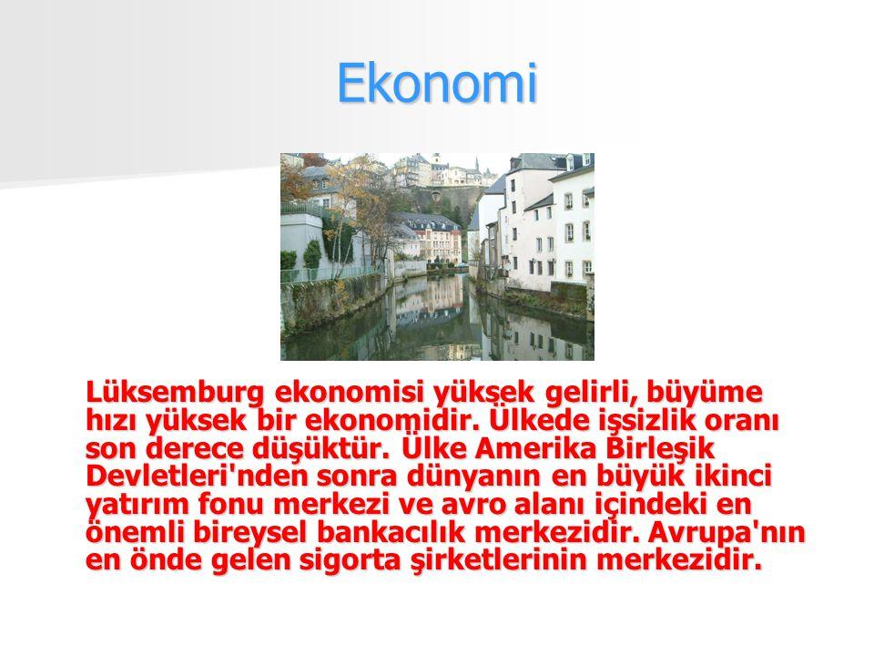 Ekonomi Lüksemburg ekonomisi yüksek gelirli, büyüme hızı yüksek bir ekonomidir.