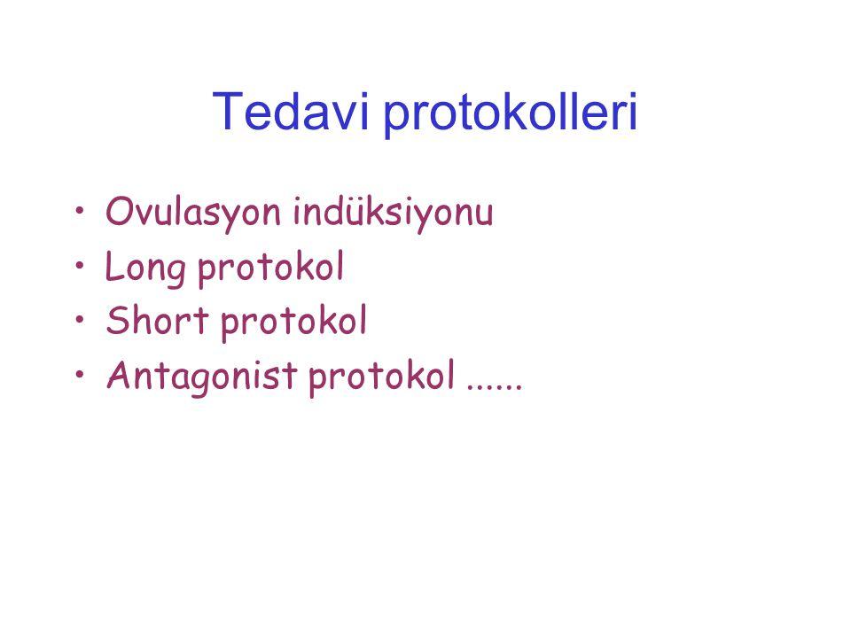 Tedavi protokolleri Ovulasyon indüksiyonu Long protokol Short protokol Antagonist protokol......