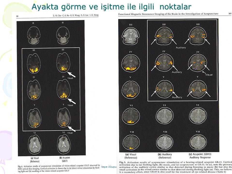 Uz.Dr.Hasan Ali Nogay Yeditepe Akupunktur 02.02.08 Ayakta görme ve işitme ile ilgili noktalar