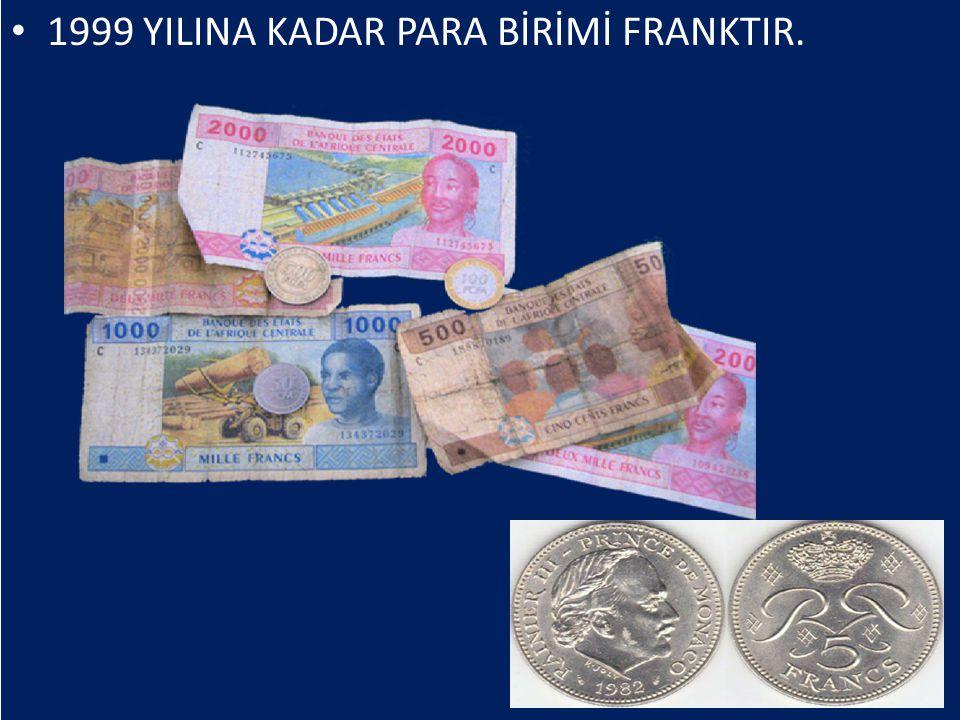 1999 YILINA KADAR PARA BİRİMİ FRANKTIR.