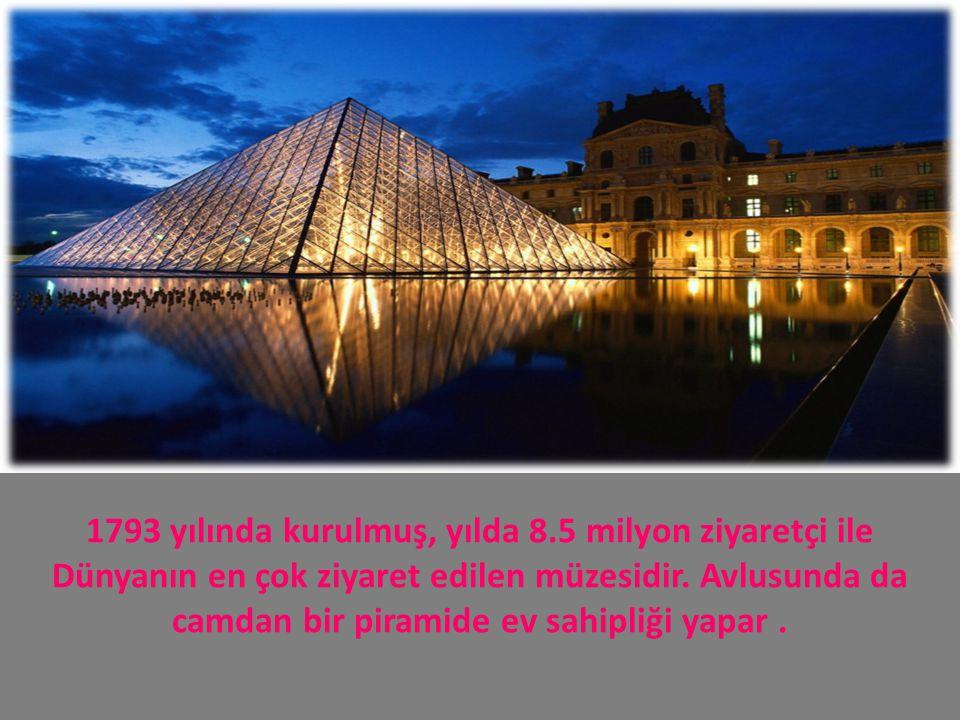 1793 yılında kurulmuş, yılda 8.5 milyon ziyaretçi ile Dünyanın en çok ziyaret edilen müzesidir. Avlusunda da camdan bir piramide ev sahipliği yapar.