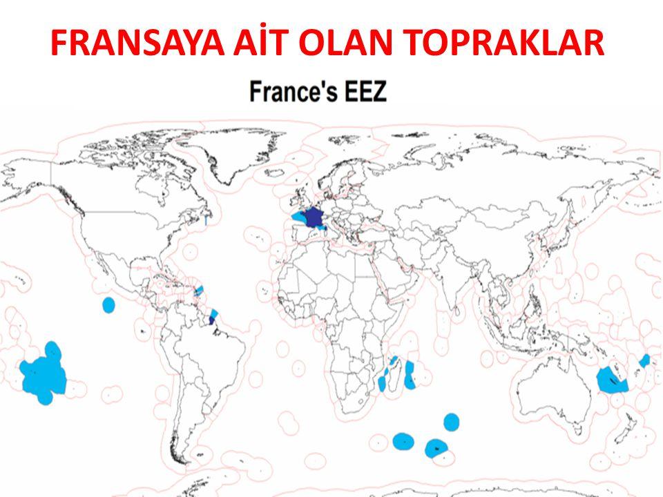 FRANSA'NIN KOMŞULARI Kuzeyinde Manş Denizi ile Kuzey Denizi, Güneyinde İspanya ve Akdeniz,, Batısında Atlas Okyanusu, Doğusunda İtalya ve İsviçre Kuzeydoğusunda Almanya, Lüksemburg ve Belçika yer alır.