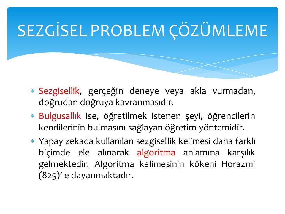  Küp problemi M(10,10,10), N(25,0,10) SEZGİSEL PROBLEM ÇÖZÜMLEME
