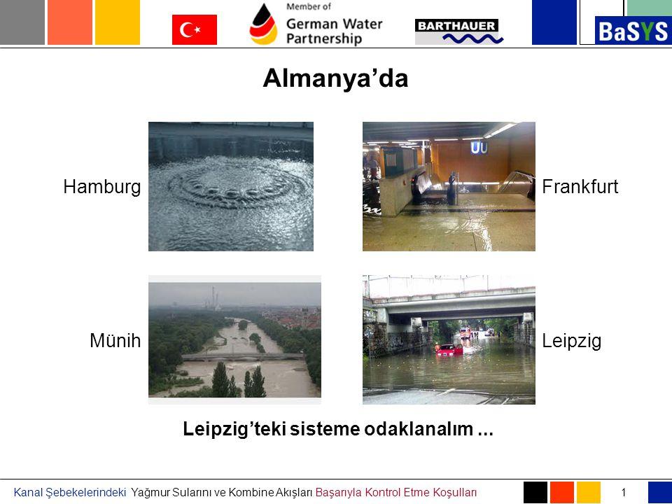 Kanal Şebekelerindeki Yağmur Sularını ve Kombine Akışları Başarıyla Kontrol Etme Koşulları Almanya'da 1 Hamburg LeipzigMünih Frankfurt Kanalizasyon sistemi bunları etkiliyor mu Leipzig'teki sisteme odaklanalım...
