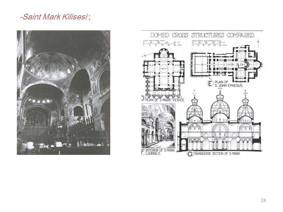 24 -Saint Mark Kilisesi ;