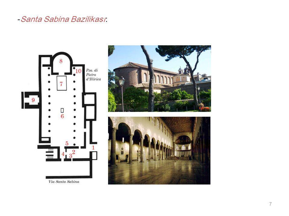 7 -Santa Sabina Bazilikası: