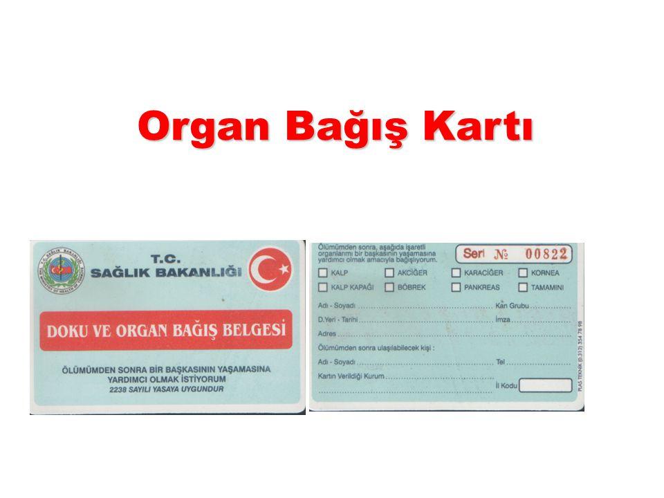 Organ Bağış Kartı