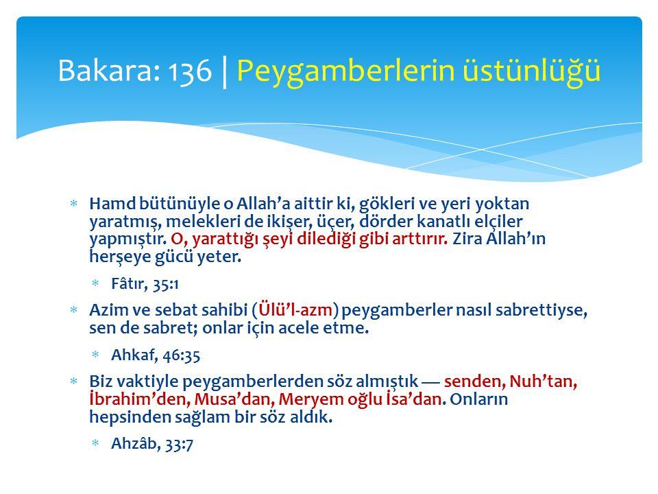  Hamd bütünüyle o Allah'a aittir ki, gökleri ve yeri yoktan yaratmış, melekleri de ikişer, üçer, dörder kanatlı elçiler yapmıştır. O, yarattığı şeyi
