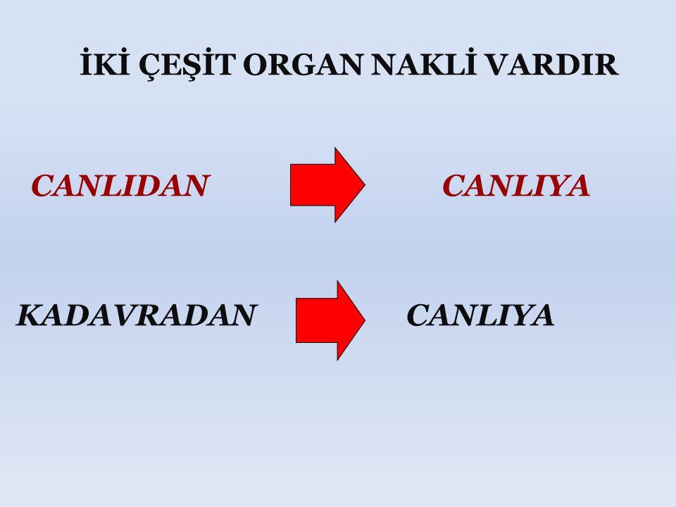 ORGAN BAĞIŞINDA BULUNABİLMEK İÇİN ; Organ bağış senedini iki tanık huzurunda doldurup imzalamak yeterlidir