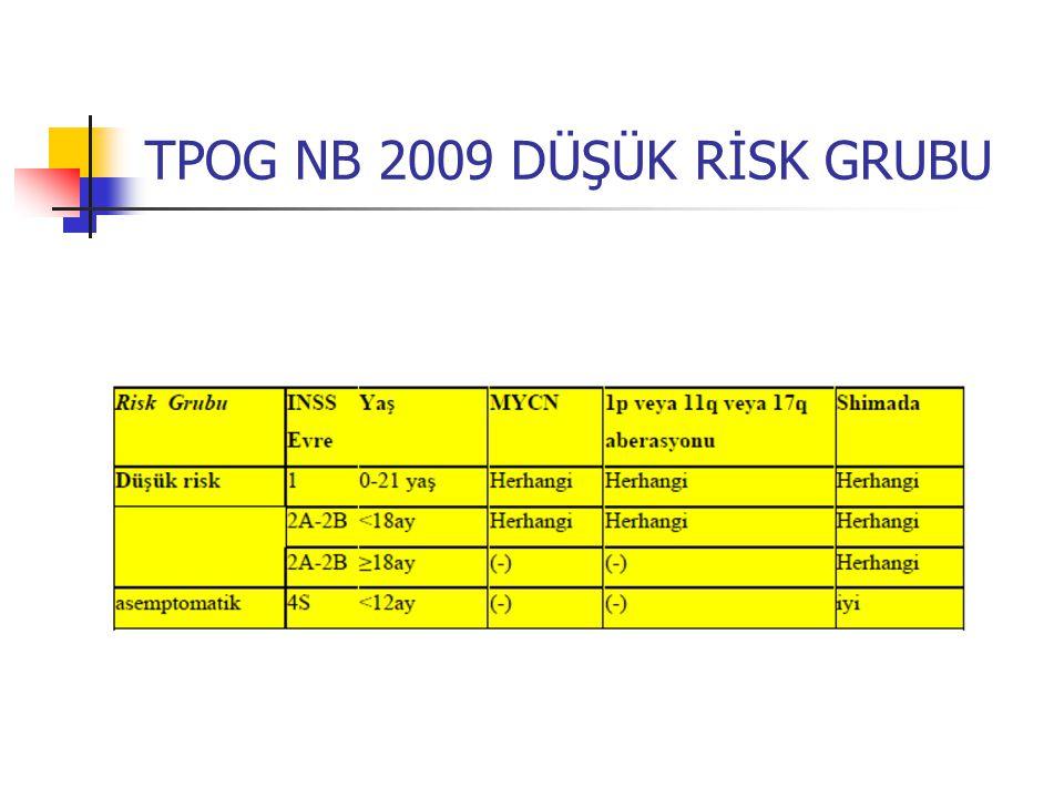 TPOG NB 2009 DÜŞÜK RİSK GRUBU