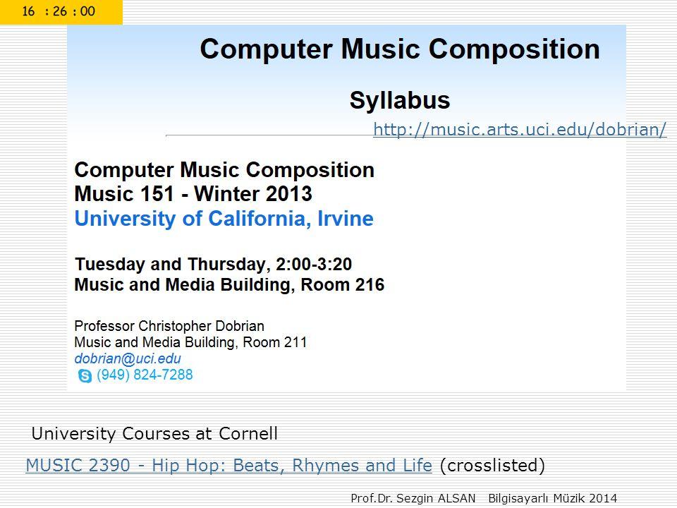 Prof.Dr. Sezgin ALSAN Bilgisayarlı Müzik 2014 WavePad Sound Editor