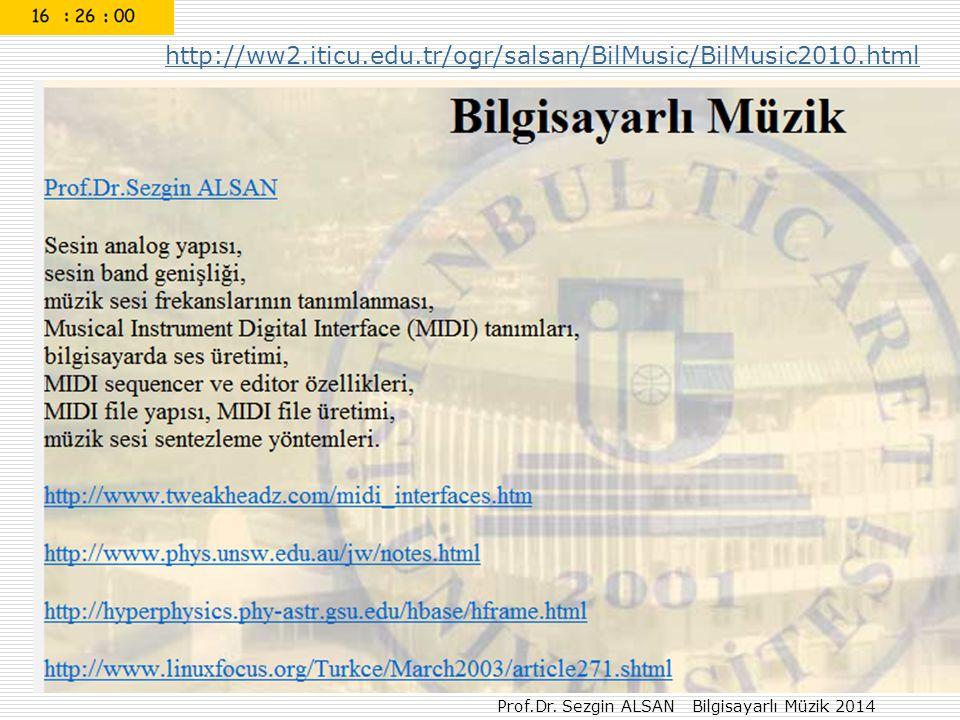 Prof.Dr.Sezgin ALSAN Bilgisayarlı Müzik 36 0 – 1 do C4 2 – 3 re D4 4 – 5 fa F4 6 – 7 sol G4 8 – 9 la A4 den başlayarak yazılacak Ödev-2