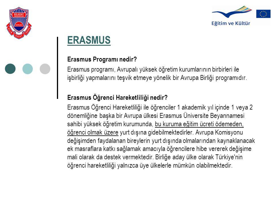 ERASMUS Erasmus Programı nedir? Erasmus programı, Avrupalı yüksek öğretim kurumlarının birbirleri ile işbirliği yapmalarını teşvik etmeye yönelik bir