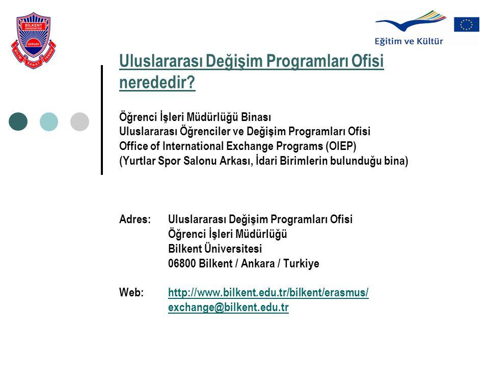 Uluslararası Değişim Programları Ofisi nerededir? Öğrenci İşleri Müdürlüğü Binası Uluslararası Öğrenciler ve Değişim Programları Ofisi Office of Inter