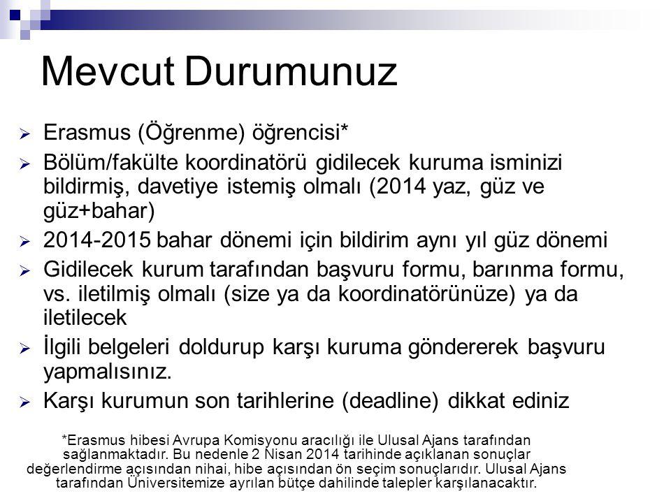 Bilgi almak için  Öncelikle: http://int.kocaeli.edu.tr  E-mail ile sorununuzu bildirin.