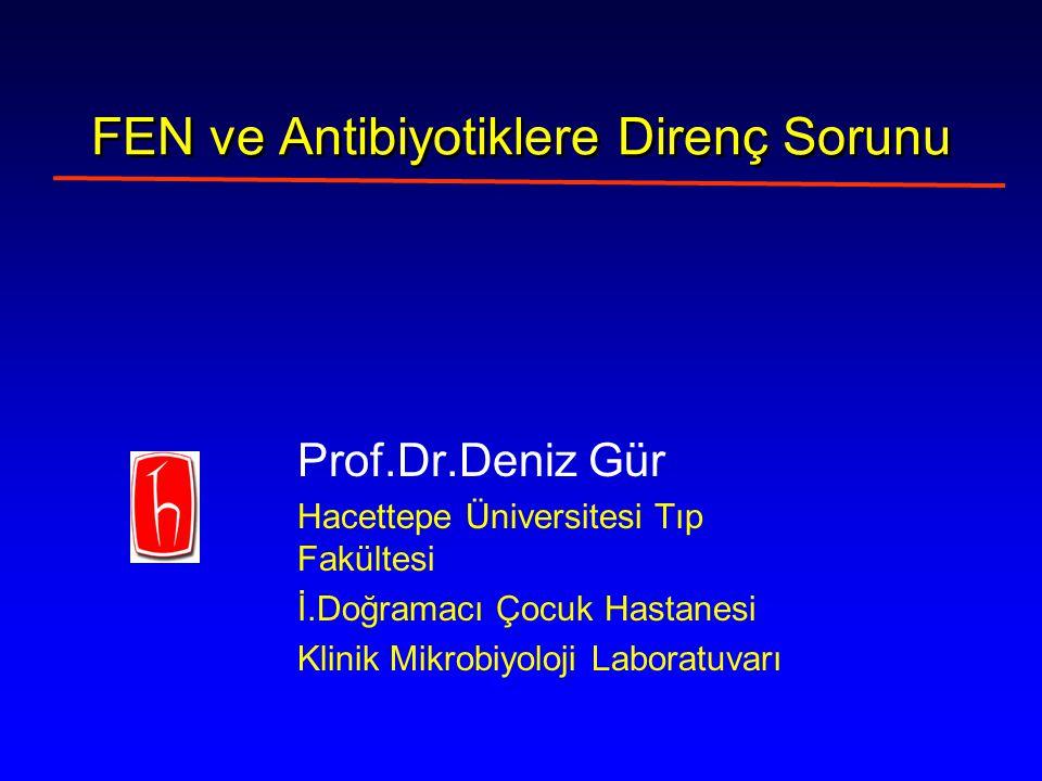 FEN ve Antibiyotiklere Direnç Sorunu Prof.Dr.Deniz Gür Hacettepe Üniversitesi Tıp Fakültesi İ.Doğramacı Çocuk Hastanesi Klinik Mikrobiyoloji Laboratuvarı