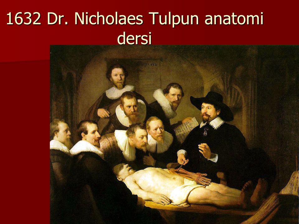 1632 Dr. Nicholaes Tulpun anatomi dersi