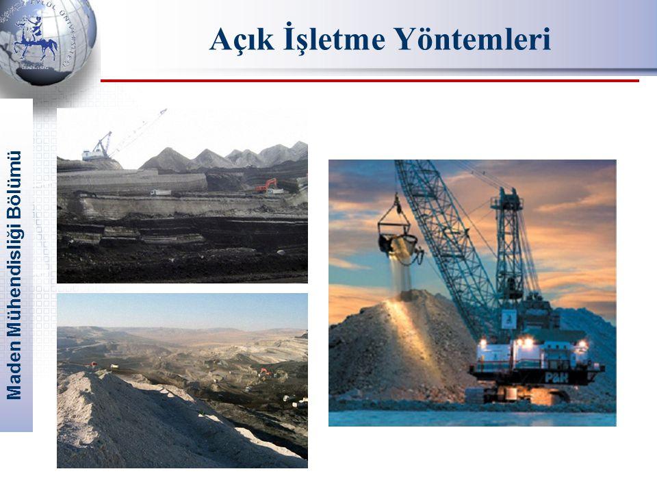 Maden Mühendisliği Bölümü Açık İşletme Yöntemleri
