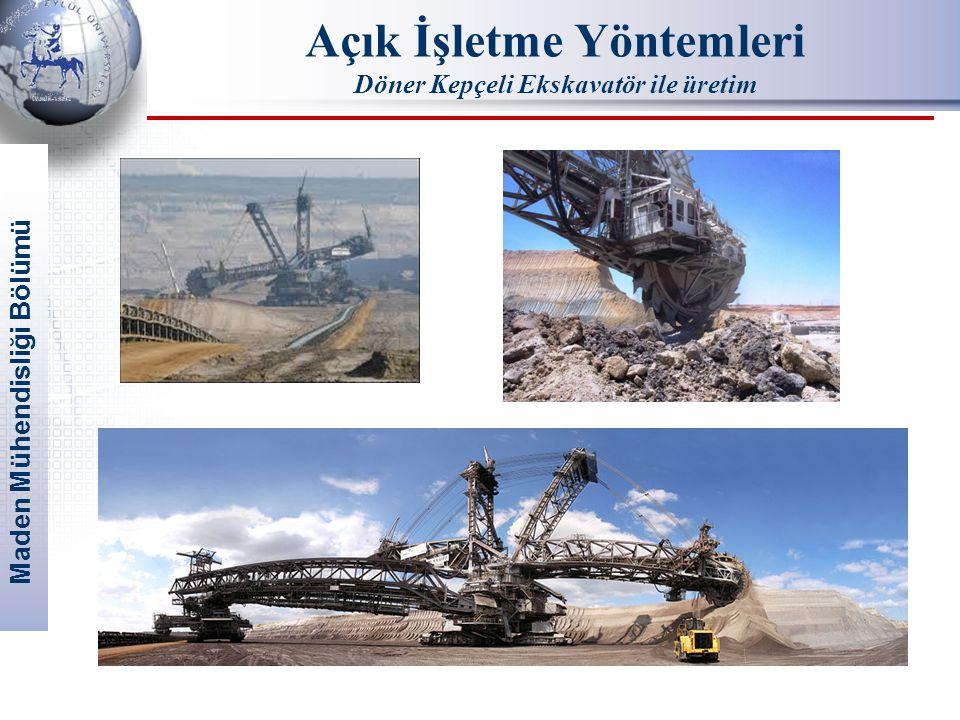 Maden Mühendisliği Bölümü Açık İşletme Yöntemleri Döner Kepçeli Ekskavatör ile üretim