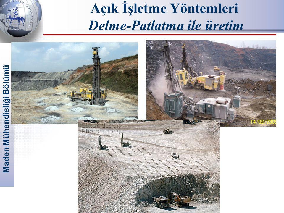 Maden Mühendisliği Bölümü Açık İşletme Yöntemleri Delme-Patlatma ile üretim