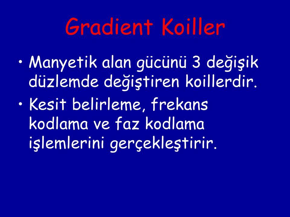 Gradient Koiller Manyetik alan gücünü 3 değişik düzlemde değiştiren koillerdir.