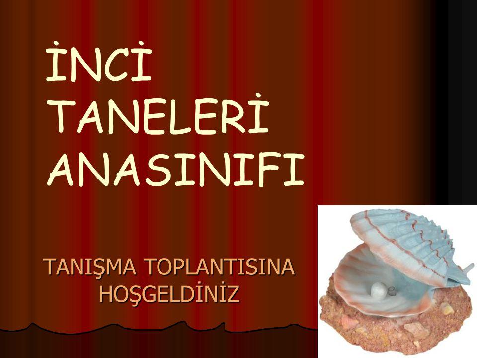 TANIŞMA TOPLANTISINA HOŞGELDİNİZ İNCİ TANELERİ ANASINIFI
