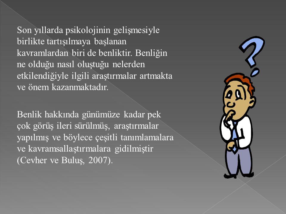  A.Adler, Adleryan psikoloji, bir benlik saygısı psikolojisidir.