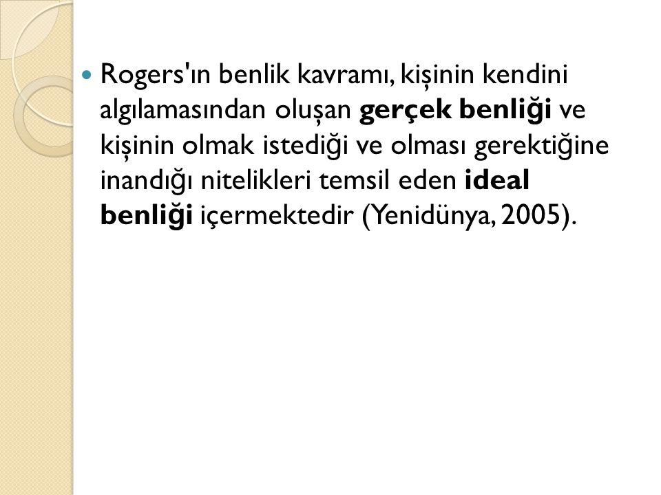 KAVRAMIN PDR İLE İLİŞKİSİ  Literatürde benlik saygısı, genellikle yüksek ve düşük olarak açıklanmaktadır (Hamarta ve diğerleri, 2009).