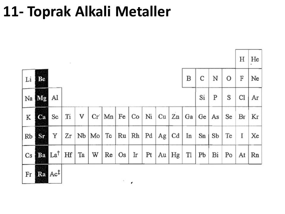 11- Toprak Alkali Metaller