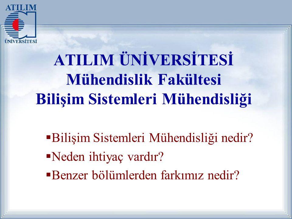 ATILIM ÜNİVERSİTESİ Mühendislik Fakültesi Bilişim Sistemleri Mühendisliği  Bilişim Sistemleri Mühendisliği nedir.